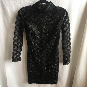 CBR long sleeve black body con dress